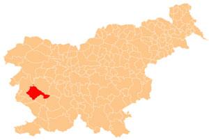 Ajdovščina - karta