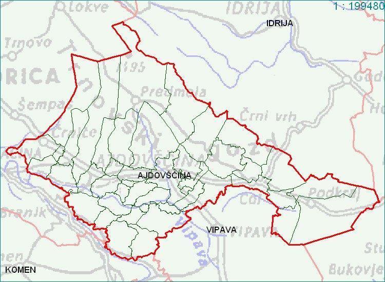 Ajdovščina - zemljevid