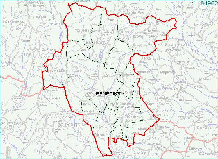 Benedikt - zemljevid