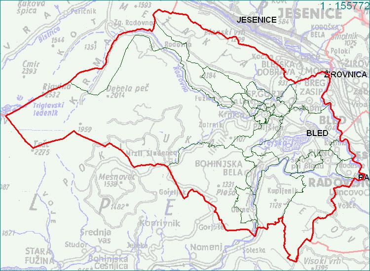 Bled - zemljevid