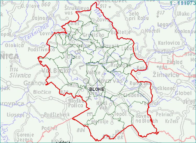 Bloke - zemljevid