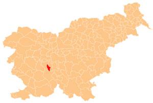 Borovnica - karta