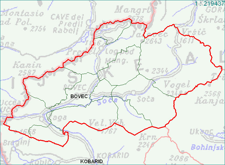Bovec - zemljevid