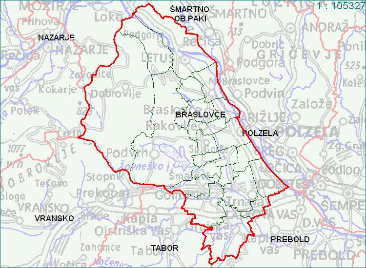 Braslovče - zemljevid