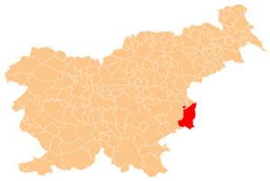 Brežice - karta