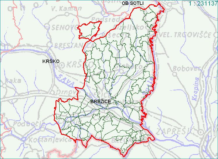 Brežice - zemljevid