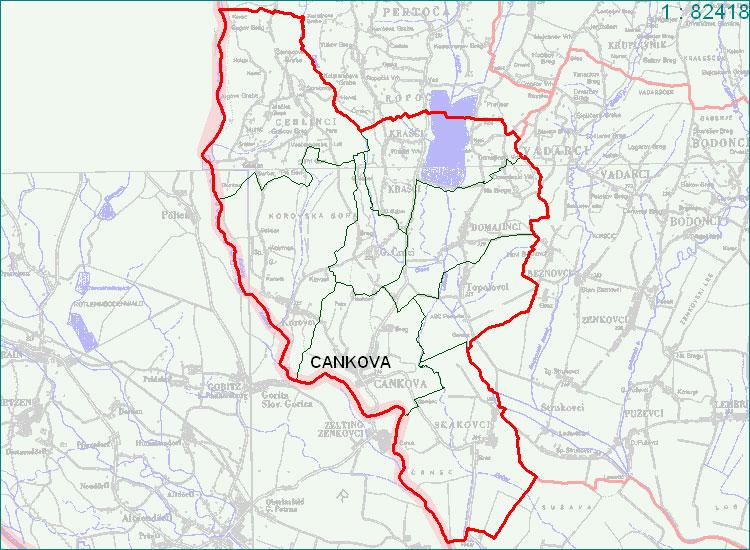 Cankova - zemljevid