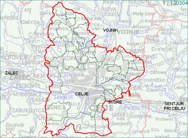 Celje - zemljevid