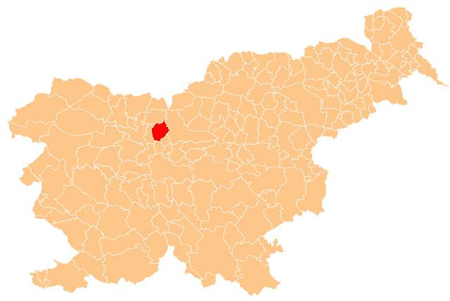 Cerklje na Gorenjskem - karta