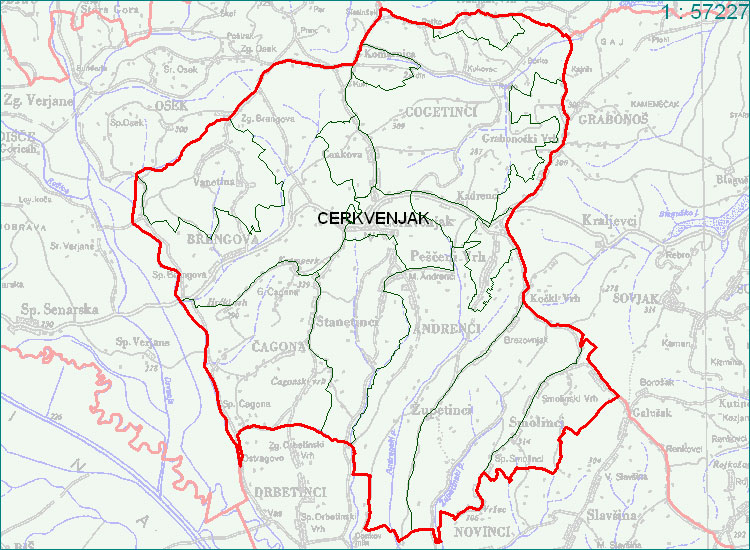 Cerkvenjak - zemljevid