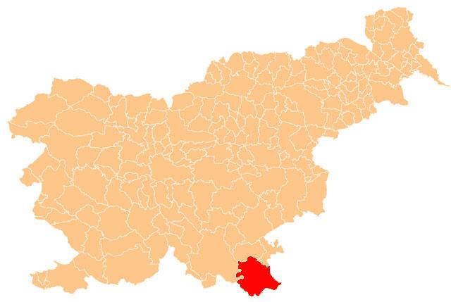 Črnomelj - karta