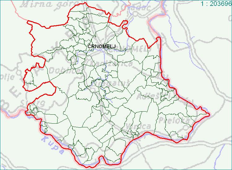 Črnomelj - zemljevid