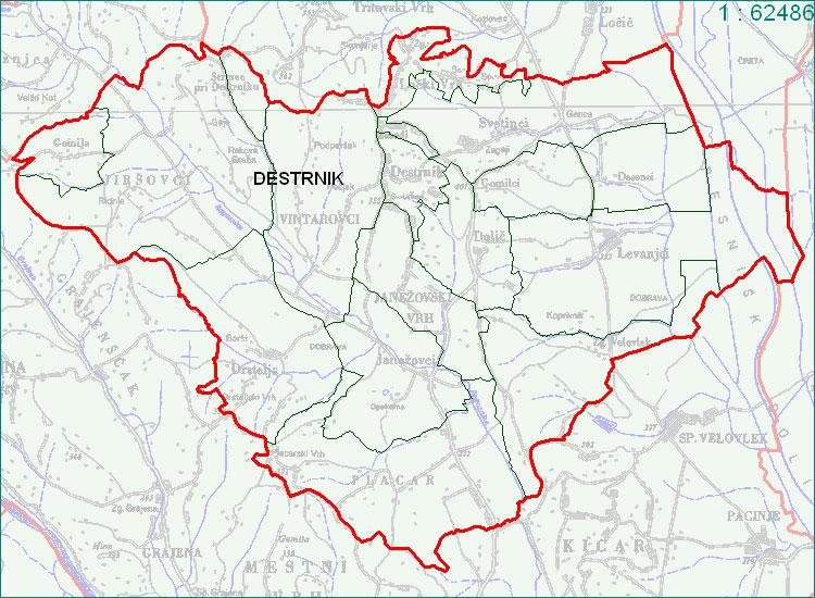 Destrnik - zemljevid