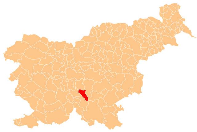 Dobrepolje - karta