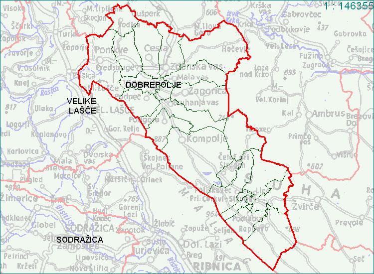 Dobrepolje - zemljevid