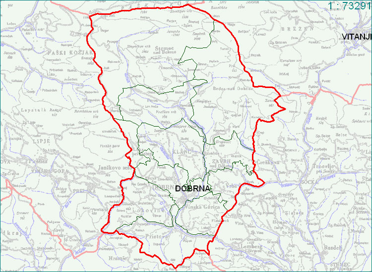 Dobrna - zemljevid