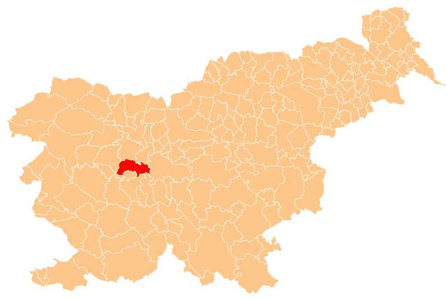 Dobrova - Polhov Gradec - karta