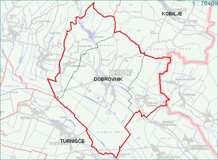 Dobrovnik - zemljevid