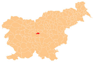 Dol pri Ljubljani - karta