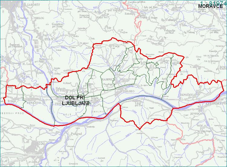 Dol pri Ljubljani - zemljevid