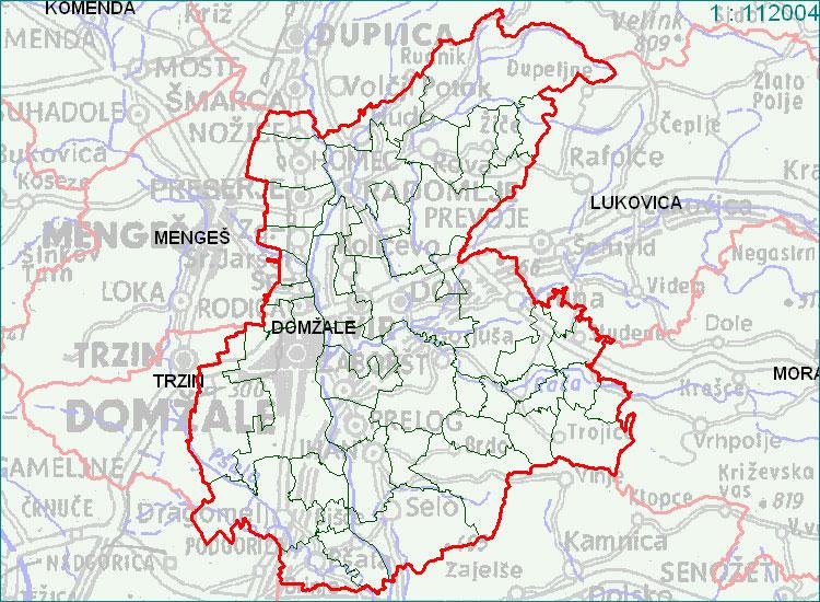 Domžale - zemljevid