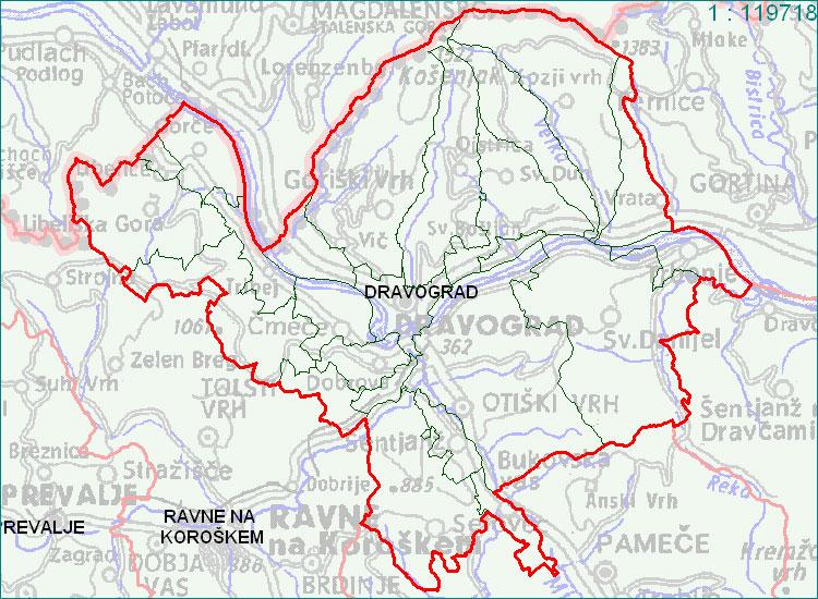 Dravograd - zemljevid