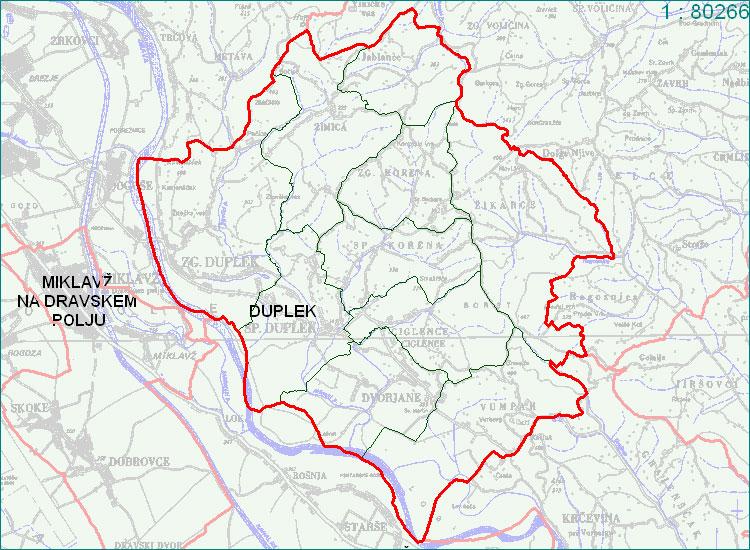 Duplek - zemljevid