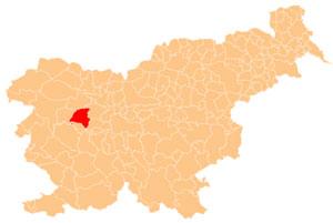 Gorenja vas - Poljane - karta