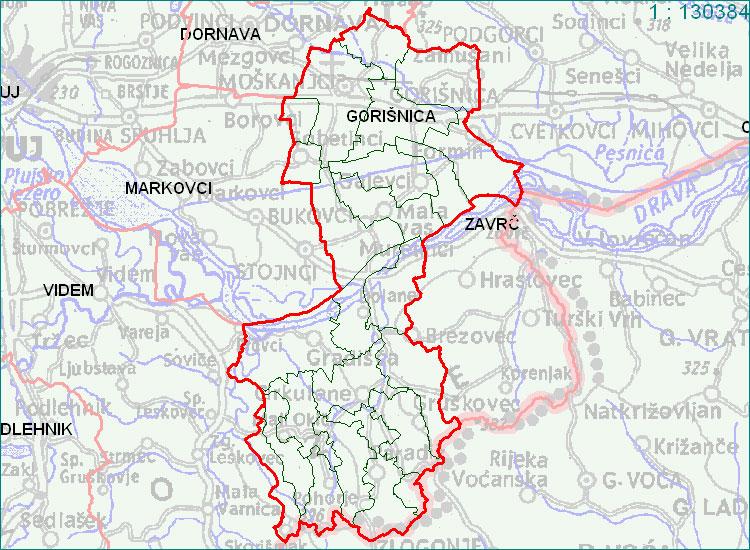 Gorišnica - zemljevid