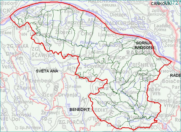 Gornja Radgona - zemljevid