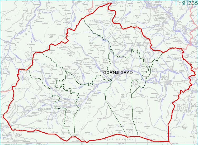 Gornji Grad - zemljevid