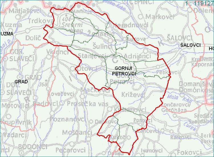 Gornji Petrovci - zemljevid