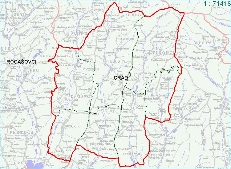 Grad - zemljevid