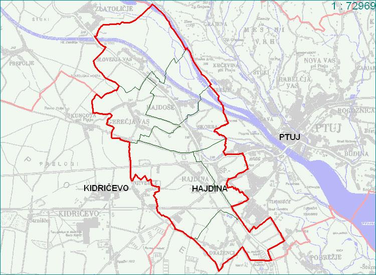 Hajdina - zemljevid