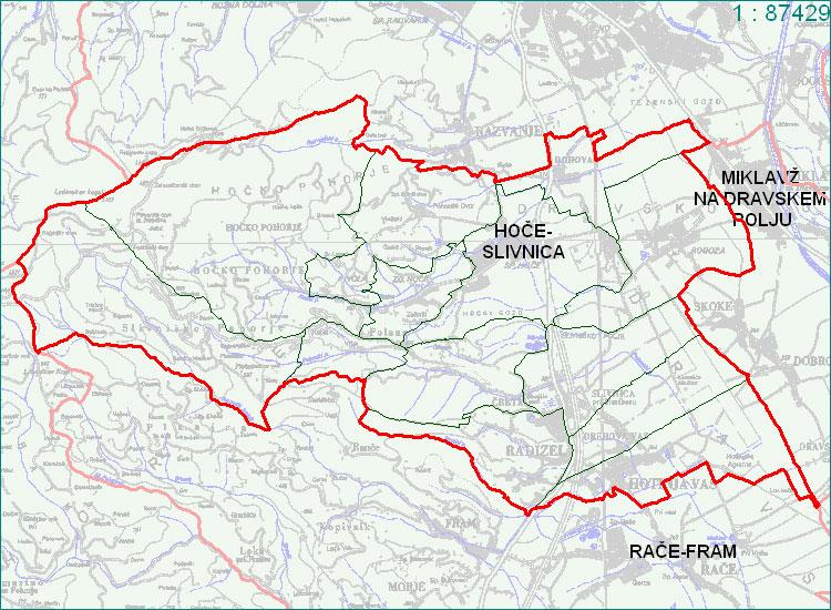 Hoče - Slivnica - zemljevid