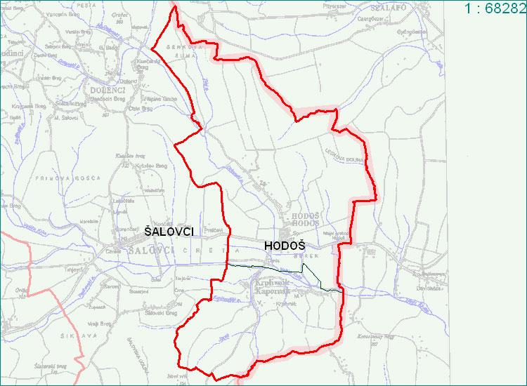 Hodoš - zemljevid