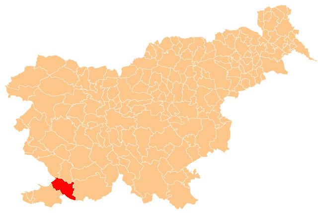 Hrpelje - Kozina - karta