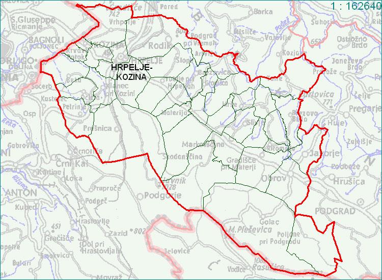 Hrpelje - Kozina - zemljevid