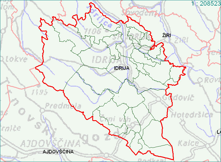 Idrija - zemljevid