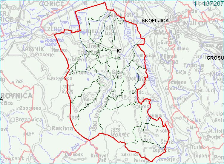 Ig - zemljevid