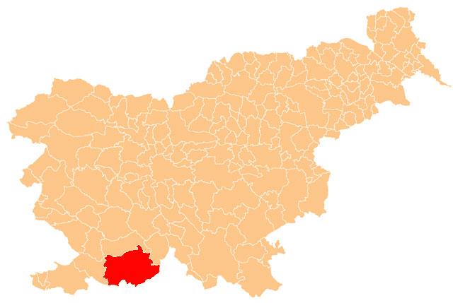 Ilirska Bistrica - karta