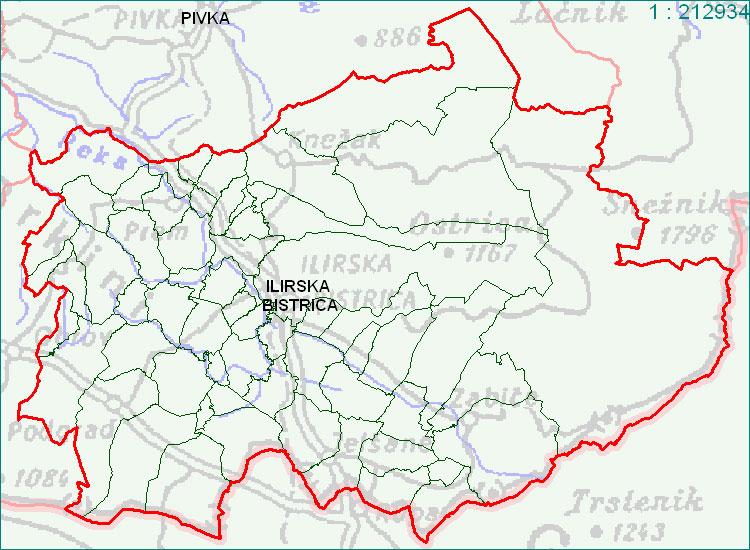 Ilirska Bistrica - zemljevid