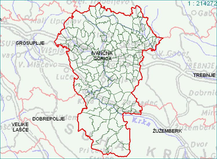 Ivančna Gorica - zemljevid