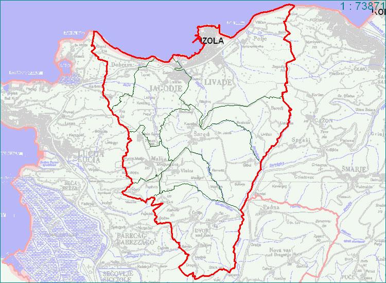 Izola - zemljevid