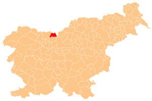 Jezersko - karta