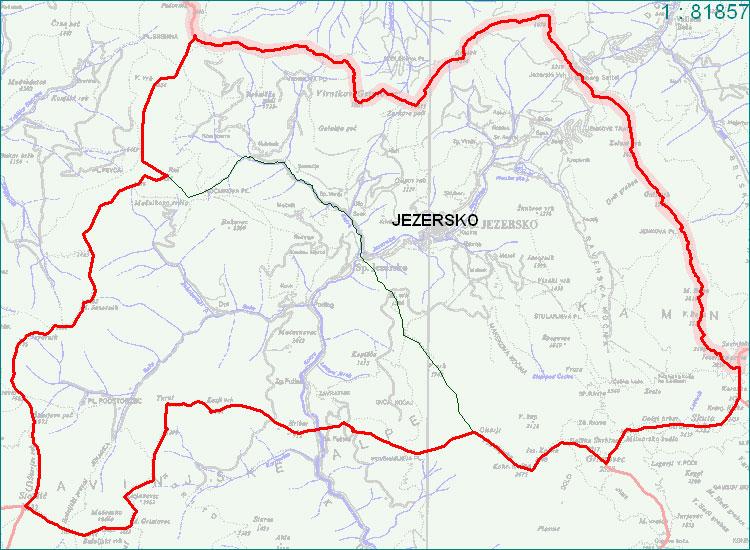 Jezersko - zemljevid
