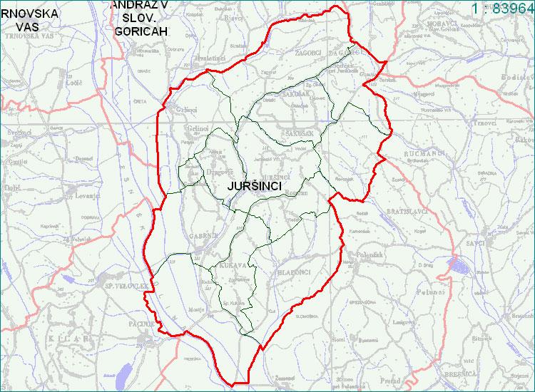 Juršinci - zemljevid