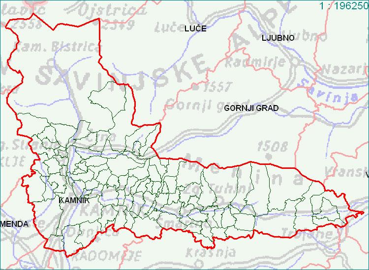 Kamnik - zemljevid