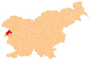 Kanal ob Soči - karta