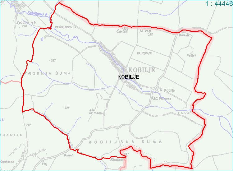 Kobilje - zemljevid